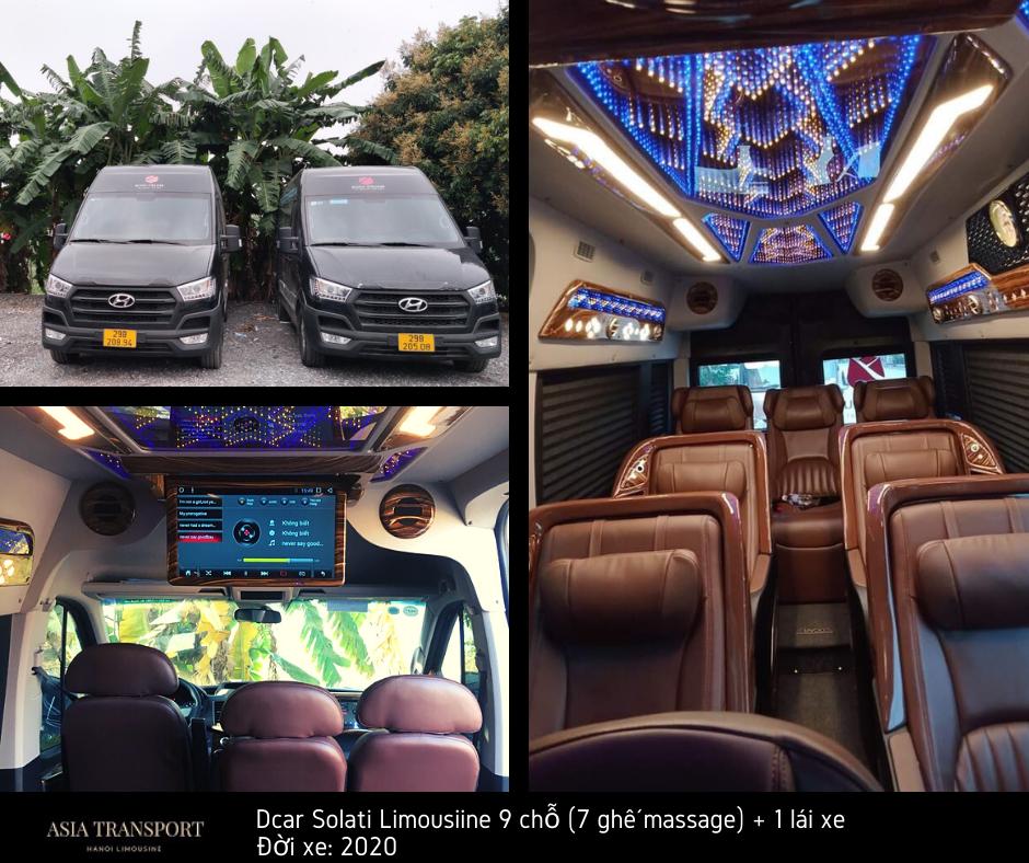 thuê xe limousine 9 chỗ 7 ghế massage