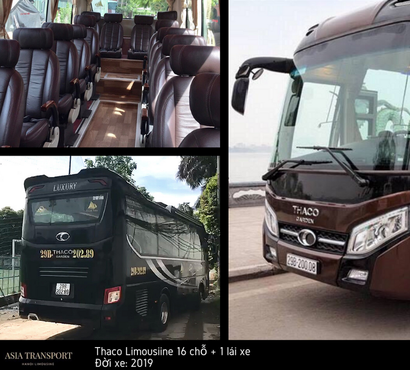 thaco limousine 16, 18 chỗ