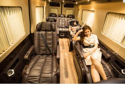 khoang ghế ngồi ảnh xe limousine solati do auto kingdom độ