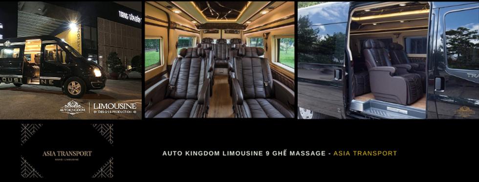 auto kingdom Limousine 9 ghế massage