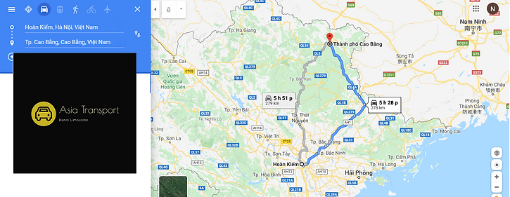 PRICE TO RENT A PRIVATE LIMOUSINE TRANSFER TO CAO BANG 4 DAYS