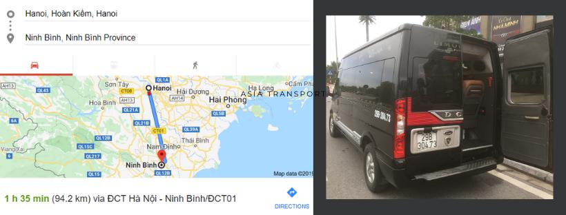 Thuê xe Limousine từ Hà Nội đi Ninh Bình giá bao nhiêu?