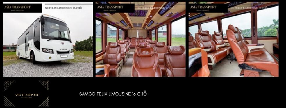 Cho thuê xe Felix Limousine 16 chỗ