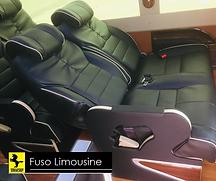 Độ ngả lưng của xe Fuso Limousine 18 chỗ