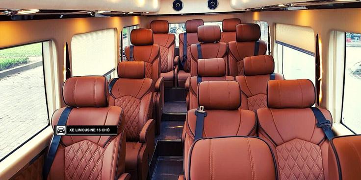 hình ảnh ghế xe 16 chỗ limousine của asia transport