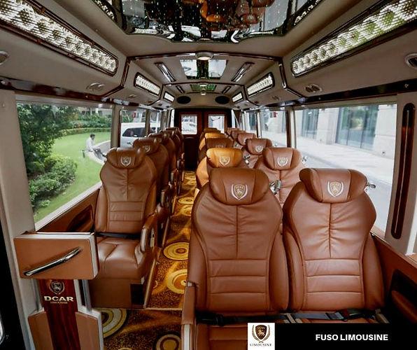 19-SEAT FUSO DCAR LIMOUSINE, LUXURY PASSENGER BUS