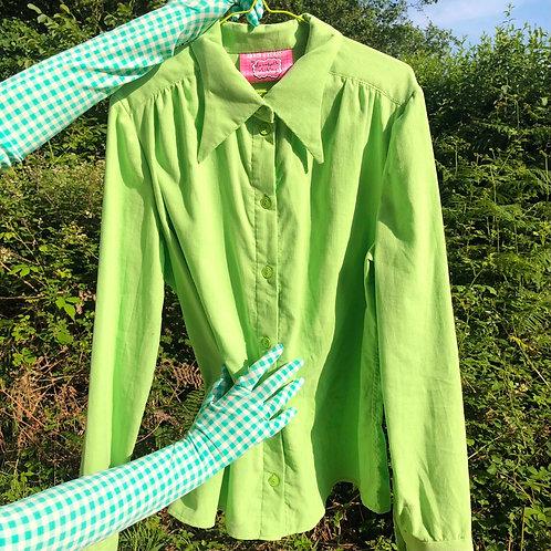 apple green minicord shirt