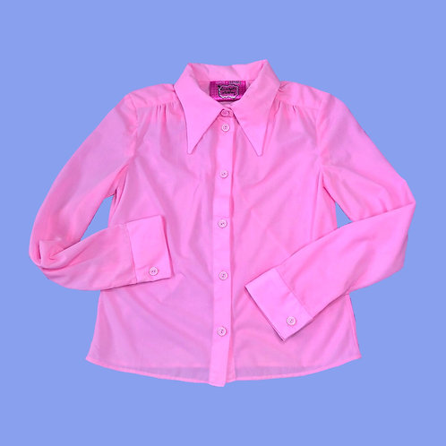 70s pink semi-sheer shirt