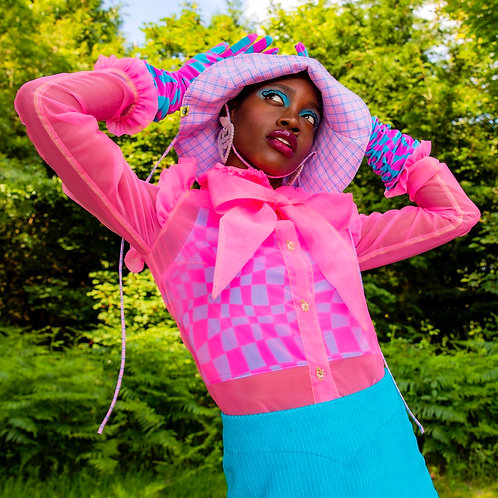 pastel flower fairy hat