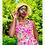 Thumbnail: 70s green flower fairy hat