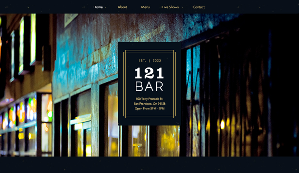 Bar och klubb website templates – Urbansk bar