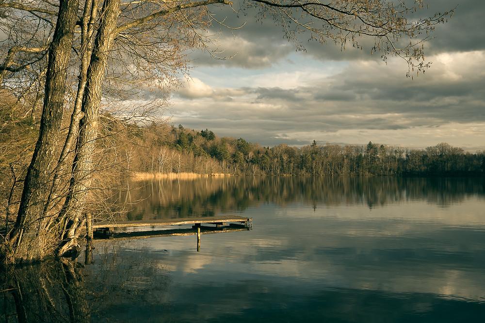 Steinsee im Abendlicht