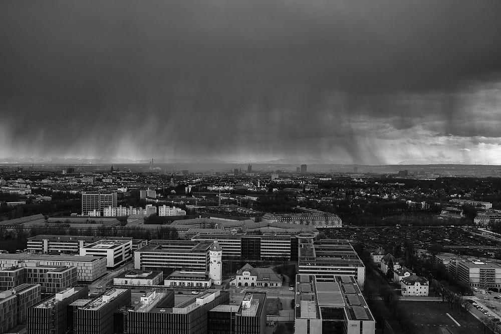Aussicht aus dem o2-Tower München