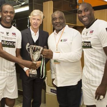 Champions - Kanu, Arsene Wenger, Sol Cam