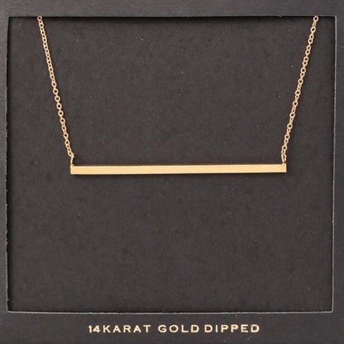 14K Gold Dipped Bar Necklace