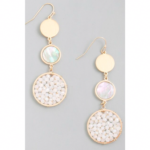 Beaded Pearl Earrings