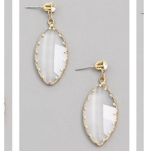 Teardrop Opaque Earrings