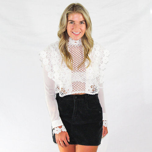Lacy White Blouse