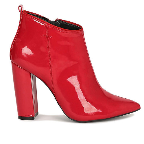 Red fire Block Heel Ankle Boot