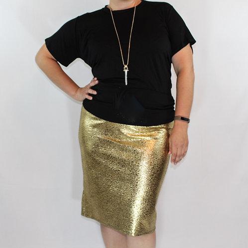 Metallic Gold high waisted skirt