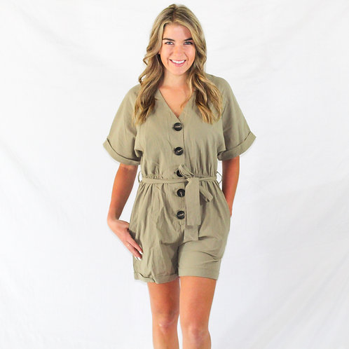 Mercury Button Romper