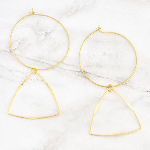 Emmalyn triangle earrings