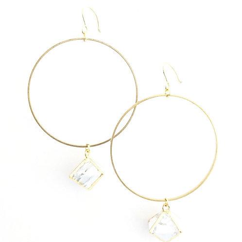 Easley pyramid earrings