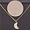 Thumbnail: 14 Karat Gold Dipped Half Moon Necklace