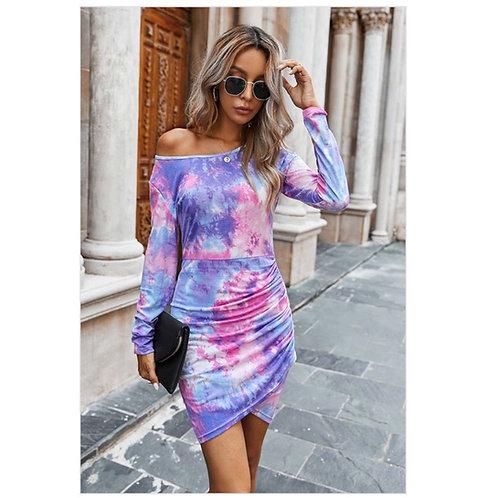 Flourishing Tie-Dye Dress