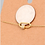 Thumbnail: 18K Gold Dipped Crystal Lock Bracelet