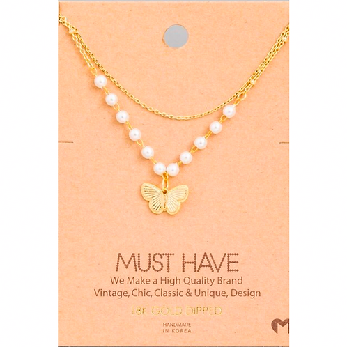 18K Gold Dipped Butterfly Necklace