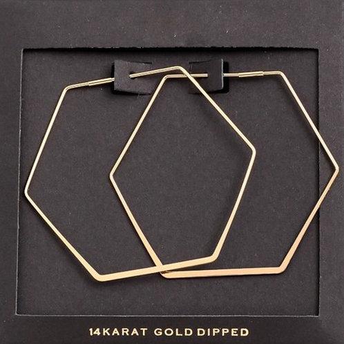 14K Gold Dipped Geometric Earrings