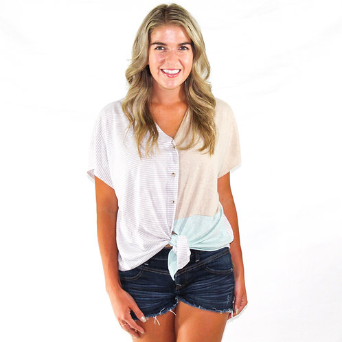 Beach button up top