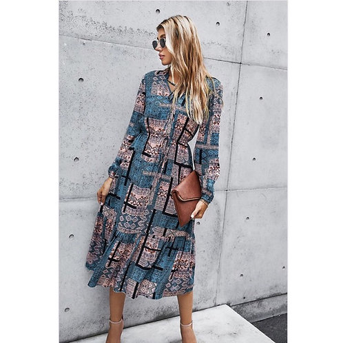Pastel Long Sleeve Dress