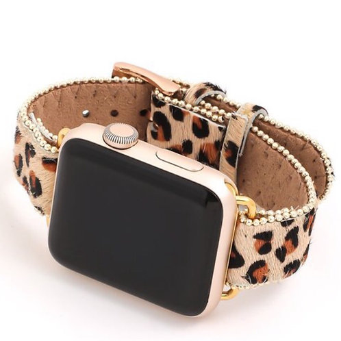 Leopard Gold Watch band for Apple Watch