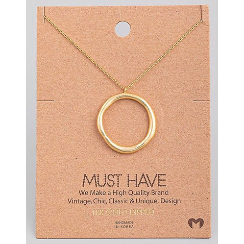 18K Gold Dipped Circle of Life Necklace