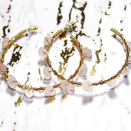 Amiga gold hoop earrings