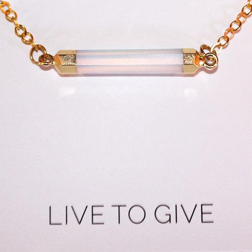 Moonstone Kandace gold necklace