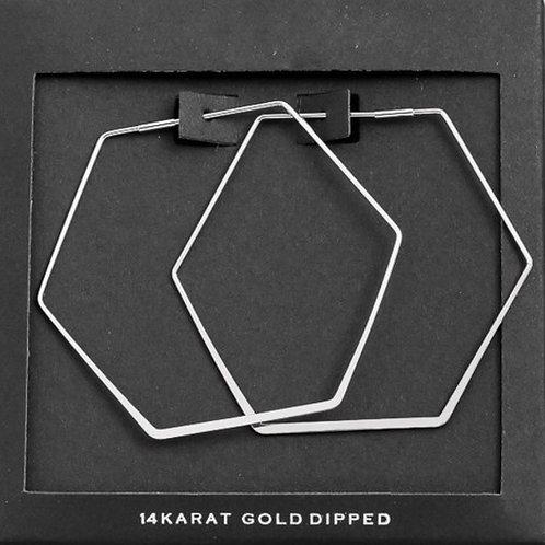 White Gold Dipped Geometric Earrings