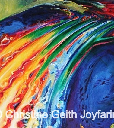 Oil Spill Copyright 2010 Christine Geith All Rights Reserved; 30 x 40 inches acrylic on canvas