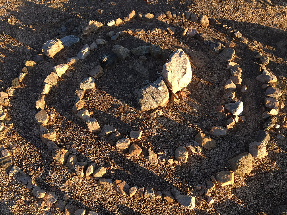 A stone circle at Joshua Tree, CA