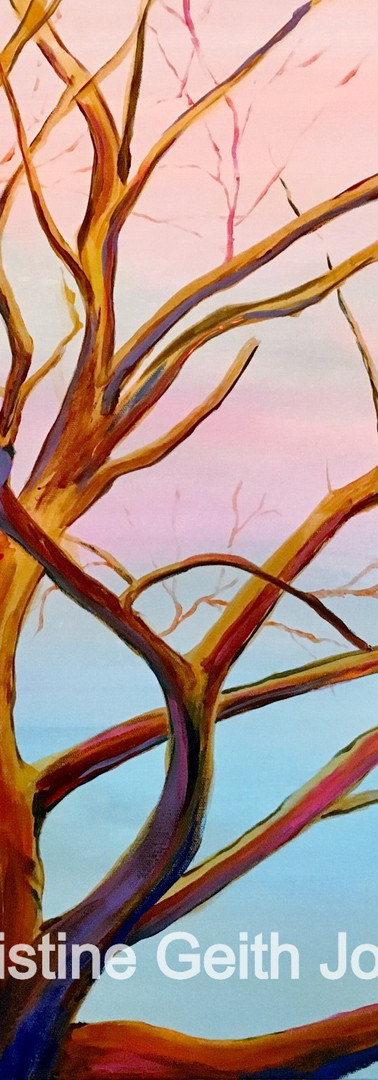 Journey Tree Copyright 2015 Christine Geith All Rights Reserved; 24 x 24 acrylic on canvas