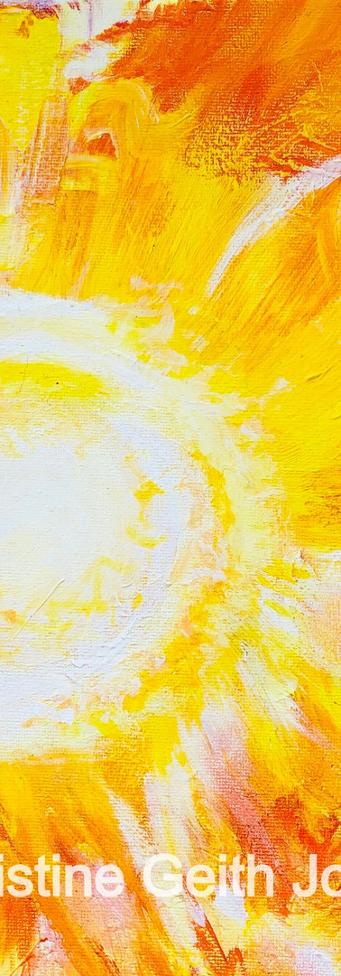 Solar Logos inspired by an Esoteric Healing meditation Copyright 2019 Christine Geith All Rights Reserved;12 x 12 Acrylic on Canvas