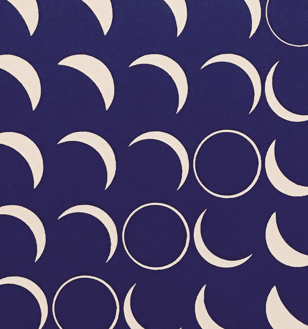 Graphic showing phases of the moon