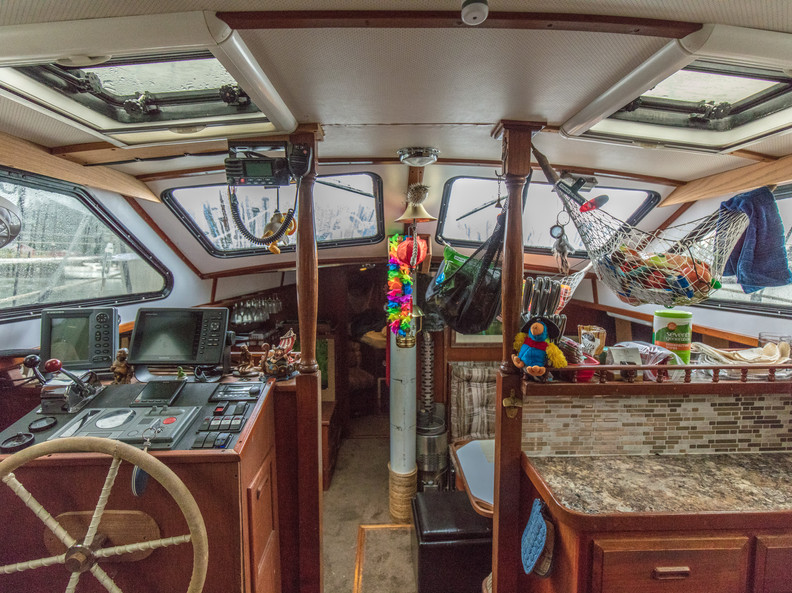 Looking forward from Companionway