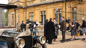 Two cameras outside Highclere.jpg