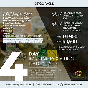 Immune Boosting Detox Pack