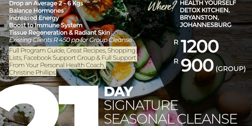 "21-Day ""Signature Seasonal Group Autumn Cleanse"""