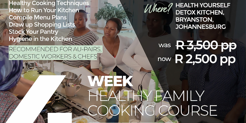 """4-Week """"Family Cooking Course"""""""