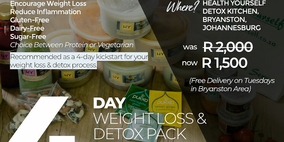 """4/6-Day """"Slim Down"""" Detox Pack - Collection 26 January"""